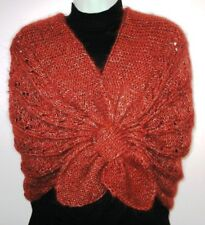 ORIGINAL Knitting Pattern - Elegant Brown Shawl Collar Shrug (No Yarn Breaking)