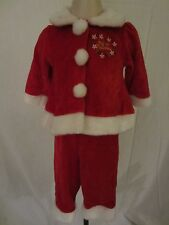 Sunshine Baby 1st Christmas Girls Red Christmas outfit Top (3/6M) Bottom (6/9M)