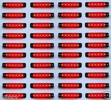 40 PIÈCES ROUGE 24V 6 LED Côté Arrière Feux de position pour IVECO DAF MAN