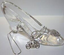 Pick A Pearl Cage Carriage Silver Charm Necklace Disney Princess Cinderella OC