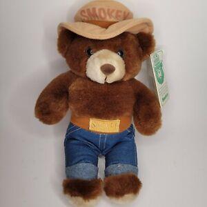 "SMOKEY THE BEAR 12"" Plush Stuffed Animal Vintage 1985 NEW with TAGS"