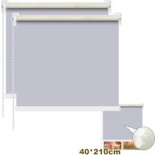 2PCS Blackout Window Blind Quality Roller Blinds 40x160cm 100% Polyester Grey