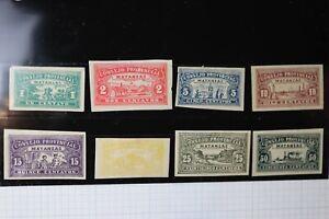 Spanish Caribbean Antilles 1903 Consejo Provincial Matanzas revenue PM1-8  DL
