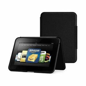 """Amazon Kindle Fire HD 8.9"""" Standing Leather Case Cover Genuine - Black"""
