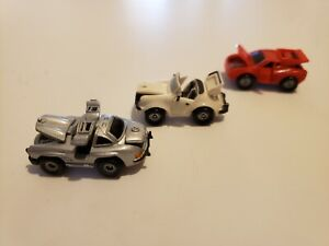 Micro Machines RARE Deluxe Porsche 911 Red Ferrari Mustang 1988 Galoob All Open