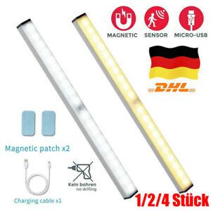 USB LED Unterbauleuchte Akku Schranklicht Wiederaufladbare mit Bewegungsmelder