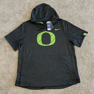 Nike Oregon Ducks Ohana Short Sleeve Hoodie Size XXL RARE Black Green CZ6224-010