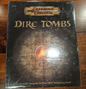 D&D Dungeons & Dragons Dire Tombs Dungeon Tiles New in shrink
