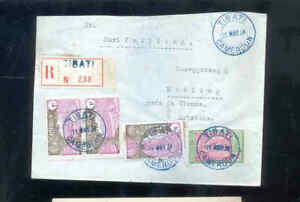 1934 Kamerun Briefcouvert, R Zettel Tibati nach Wien