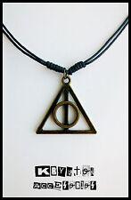 Collar Ajustable Unisex Las Reliquias de la Muerte Bronce Colgante Harry Potter