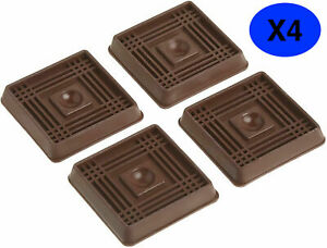 Rubber Floor Protectors CASTOR CUPS NON SLIP Sofa Chair Furniture - Pack of 4
