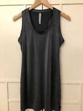 Black Shimmer Next Vest Top Skater Blouse Shirt 10 T-shirt Long Racer New