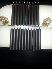 10 Blutkerzen Kerzen Wachs Höhe ca. 21 cm Ø ca. 2,2 cm schwarze Messe Kerze