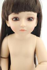 """BJD/SD NUDE girl doll plastic cement toy/Brown eyes/Curly hair 18""""/45cm kid gift"""
