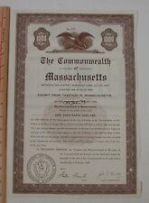 "1959 Sewerage Loan bond Treasurer ""John F Kennedy"" Massachusetts Furcolo BOSTON"