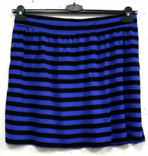 Cotton Blend A-Line Striped Skirts for Women