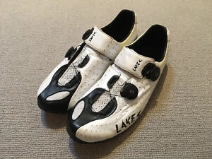 Lake CX402 Cycling Shoes - White/Black - Size EU43.5
