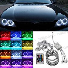 4pcs RGB LED 5050 Angel Eyes Light Car Headlight Halo Ring Lamps Kit 70MM