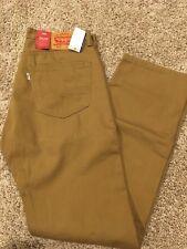 NWT Levis 505 Mens Jeans Regular Straight Leg Caraway Brown 38X30 00505-1465