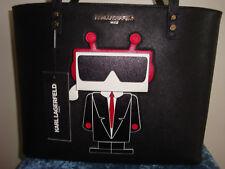 KARL LAGERFELD PARIS Robot Black Tote NWT!!!MSRP$228
