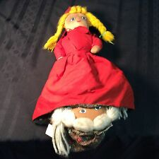 "Vintage little red riding hood ""topsy turvy"" doll; circa 1960's"