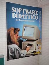 SOFTWARE DIDATTICO Per Personal Computer SEI 1990 libro scienza tecnica manuale
