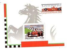 Foglietto Italia  Ferrari Campione del Mondo 2000    2001