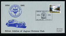 Jubileo de Plata de los controladores de Jaguar Club de primer día cubierta + info tarjeta 25th junio de 1981