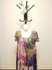 ✿♡ 'CAFÉ LATTÉ' Womens Dress Size S (Artsy Painted Colourful Look Unique) ♡✿