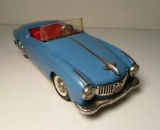 Schuco Light Blue Rollyvox 1080 Tin Wind Up Toy Car Western Germany 8 1/2""