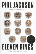 "Phil Jackson Signed Book ""Eleven Rings"""