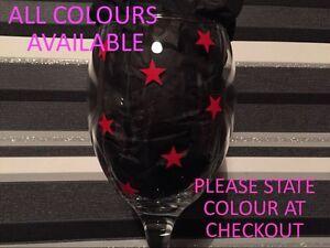 x80 Mini Stars ALL COLOURS Vinyl Decal Sticker DIY Glitter Wine Glass