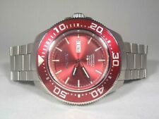 Aragon A056RED Divemaster T100 Tritium Tube Automatic SII NH36 50mm Watch