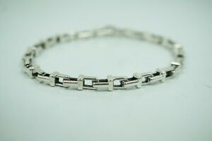 """Tiffany & Co. Silver T Chain Link 7.5"""""""