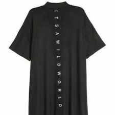 Divided By H&m Itawildworld print mock neck cotton soft shirt