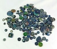 Lot of Assorted Vintage Buttons, Mostly Shades of Gray, 4.8 Ounces (Lot #1)