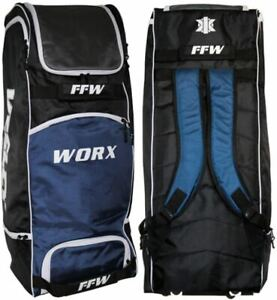 2022 Keeley FFWorx Black Blue Cricket Kit Bag Size 89 x 35 x 35cm - Free P&P