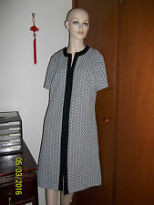MINT - 60's MOD black & white Shift tunic Dress Scooter A Line - SZ 14 16 L XL