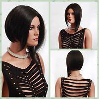 Popular Women Short Black Straight Cosplay Party Heat Resistant Hair Full Wigs