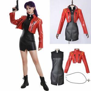 EVA Neon Genesis Evangelion Figure Katsuragi Misato Ver Uniform Cosplay Costume
