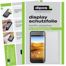 2x ZTE Grand X Pro Schutzfolie matt Displayschutzfolie Folie dipos Displayfolie