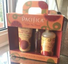 Pacifica Tuscan Blood Orange Gift Set, Body Butter, Body Wash, Perfume Roll-On