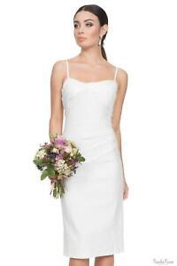 Voodoo Vixen Womens White Wiggle Bridal Dress 1950s Vintage Retro