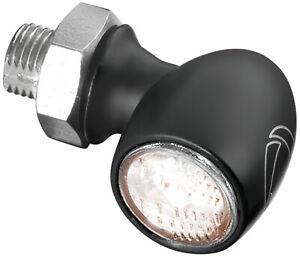 Kuryakyn Kellermann Atto Black Turn Signal w/White LEDs and Smoke Lens (2526)
