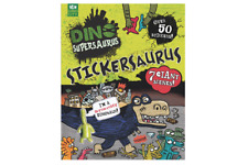 Dinosaurus supersaurus sticker book with over 80 stickers