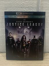 Zach Snyder's Justice League 4K Ultra Hd + Blu-ray + Slipcover New + Ships Free