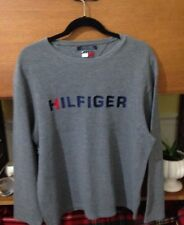 Tommy Hilfiger Gray Waffle Thermal Long Sleeved Shirt Size Large L