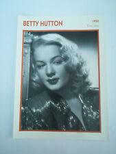 Betty Hutton - Fiche cinéma - Portraits de stars 13 cm x 18 cm