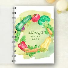 Personalised Recipe notebook Watercolour Vegetables, Foodie Cooks Lovely Gift