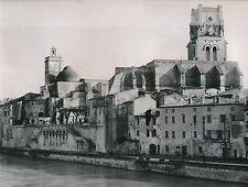 PONT-ST-ESPRIT c. 1935 -Escaliers St Pierre Église Saint-Saturnin Gard- DIV 8765